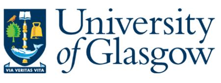 University of Glasgow logo.
