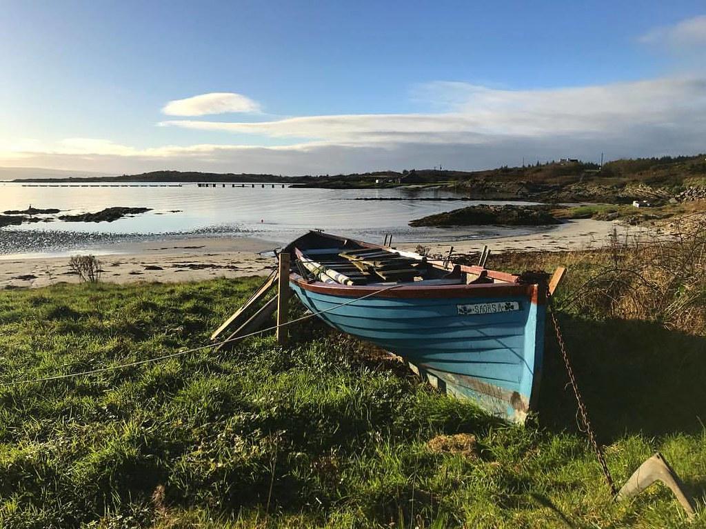 Gigha Beach and Boat